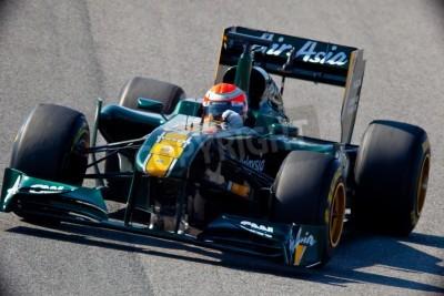 Fototapeta Jerez de la Frontera, Hiszpania - 11 lutego: Jarno Trulli z Team Lotus F1 wyścigi na sesji szkoleniowej w dniu 11 lutego 2011 w Jerez de la Frontera, Hiszpania