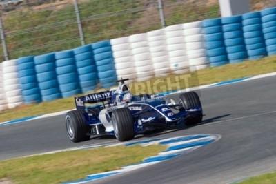 Fototapeta Jerez de la Frontera, Hiszpania - 11 października: Narain Karthikeyan z Williams F1 wyścigów w sesji szkoleniowej w dniu 11 października 2006 roku w Jerez de la Frontera, Hiszpania