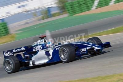 Fototapeta JEREZ DE LA FRONTERA, SPAIN - OCT 11: Alex Wurz of Williams F1 races on training session on October 11, 2006 in Jerez de la Frontera , Spain