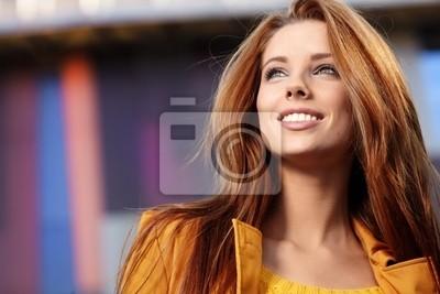 Fototapeta Jesień portret pięknej kobiety