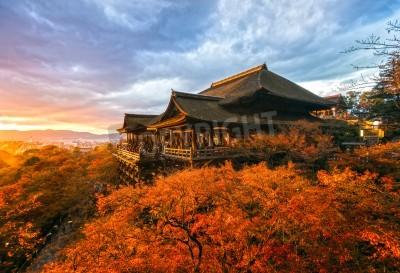 Fototapeta Jesienne kolory w świątyni Kiyomizu-dera w Kyoto, Japonia