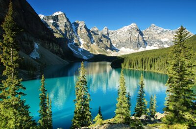 Fototapeta Jeziora morenowe, Park Narodowy Banff