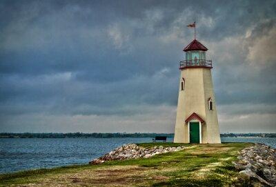 Fototapeta Jezioro Hefner Lighthouse