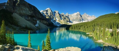 Fototapeta Jezioro morenowe, Park Narodowy Banff