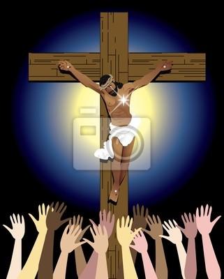 Jezus Krzyż Tłum
