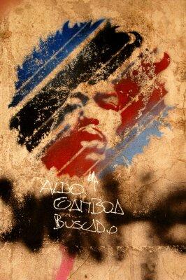 Fototapeta Jimi Hendricks fototapeta street art w trzech kolorach niebieskim czarnym i czerwonym