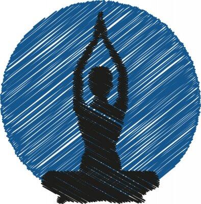 Fototapeta Joga Logo Sylwetka Ikona