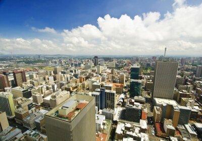 Fototapeta Johannesburg Skyline z góry RPA