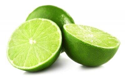 Fototapeta Juicy lime isolated on white