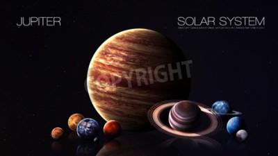 Fototapeta Jupiter - rozdzielczości 5K Infografika przedstawia jeden z planety systemu słonecznego. Ten obraz elementy dostarczone przez NASA.