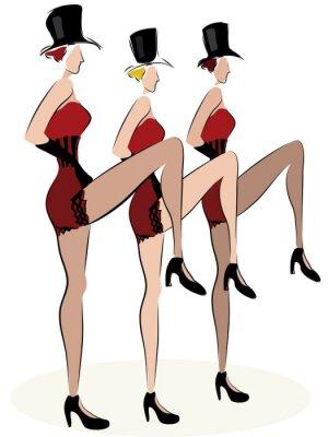 Fototapeta Kabaretowe tancerki Can Can. Moulin Rouge