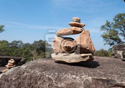 Kamienie pyramides w Ta Keo świątyni. Angkor. Kambodża