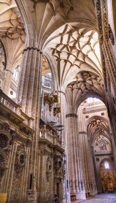 Fototapeta Kamiennych kolumnach Witraż Nowe Salamanca Katedra Hiszpania