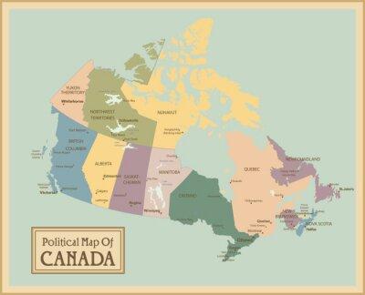 Fototapeta Kanada - bardzo szczegółowe map.Layers używane.
