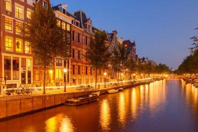 Fototapeta Kanałów w Amsterdamie.