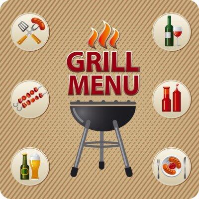 Fototapeta Karta Grill menu design