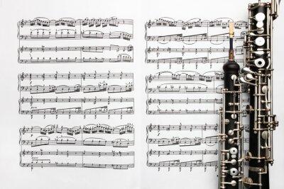 Fototapeta Karta instrumenty muzyczne muzyka zauważa oboju