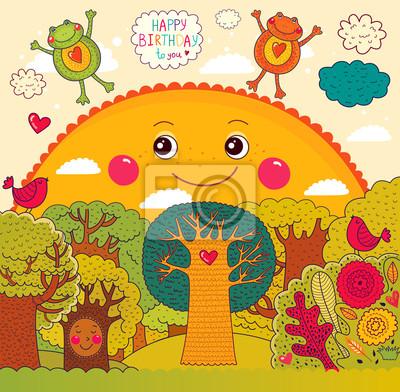 Karta wektor z okazji urodzin