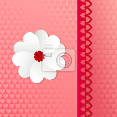 Karta z kwiatów jak serce