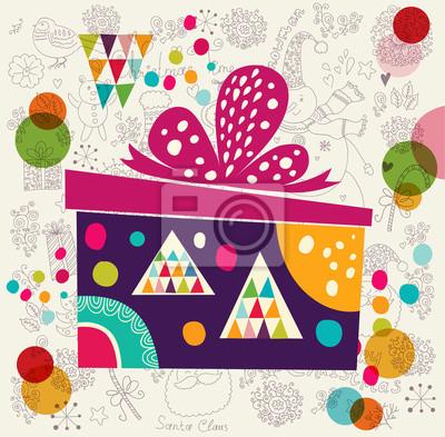 Kartka świąteczna z pudełko