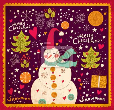 Kartka świąteczna z Snowman