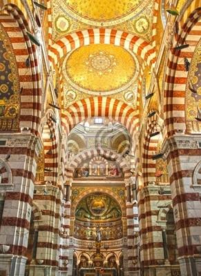 Katedra Notre Dame de la Garde w Marsylii, na południu Francji