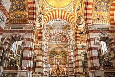 Katedra Notre Dame de la Garde w Marsylii, we Francji