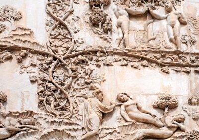 Fototapeta Katedra w Orvieto, płaskorzeźby Garden of Eden, włochy