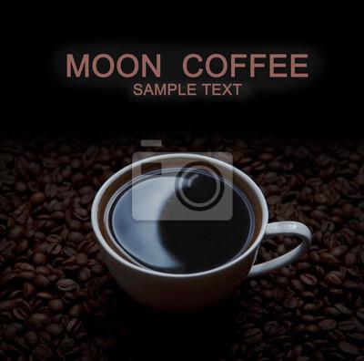 kawa z refleksji księżyc i kopia przestrzeń
