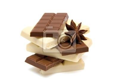 kawałki czekolady czarno-biały z anyżu