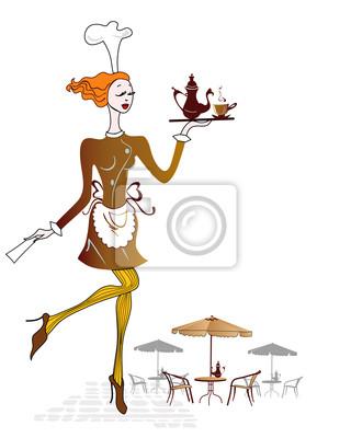 Kelnerka w kawiarni