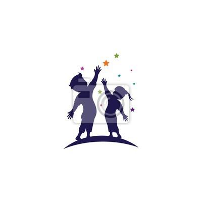 Fototapeta kids concept vector illustration