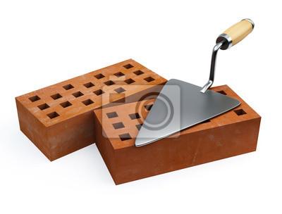 Kielnia i cegły