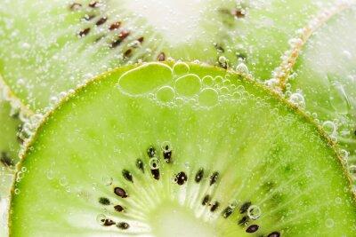 Fototapeta Kiwi tekstura tło z bąbelkami