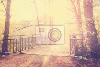 Fototapeta Kładka w pierwszych promieniach porannego słońca