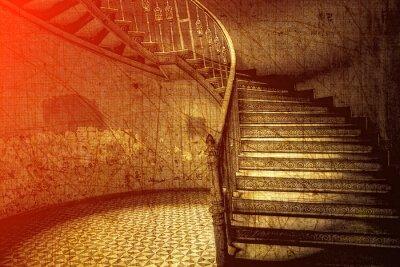 Fototapeta Klasyczne schody w Stylu retro