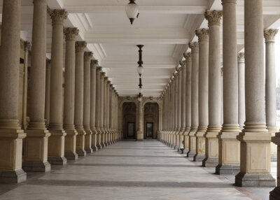 Fototapeta Klasyczny styl kolumnada, Karlovy Vary