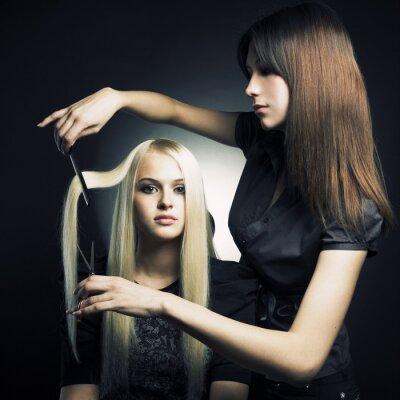 Fototapeta Klient i stylista