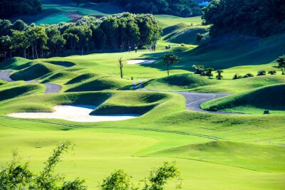 Fototapeta Klub golfowy z ładnym zielonym