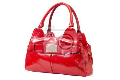 Kobieta czerwona torebka patent