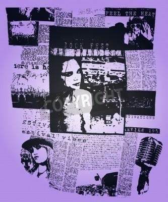 Fototapeta Kobieta gazety plakat pop art projekt