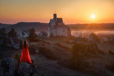 Fototapeta Kobieta i zamek
