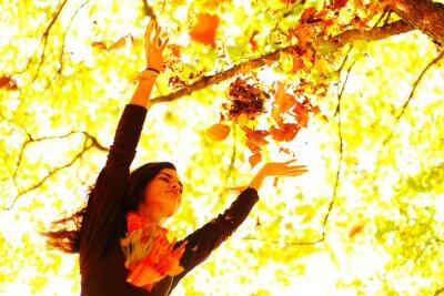 Fototapeta kobieta jesień