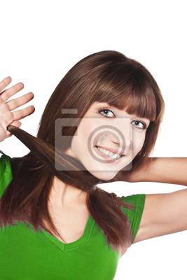 Kobieta loosing włosy