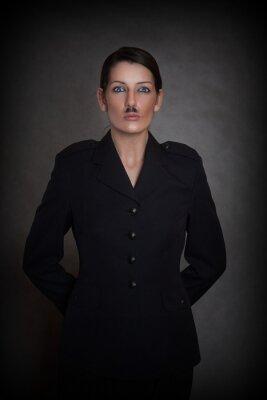 Fototapeta Kobieta o dwóch twarzach ucharateryzowana jako mężczyzna z wąsami