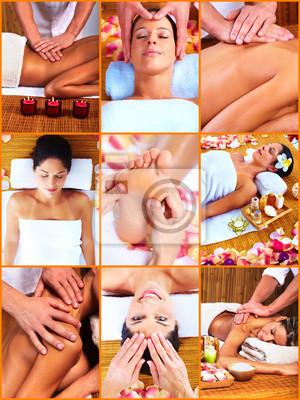 Kobieta o masaż.