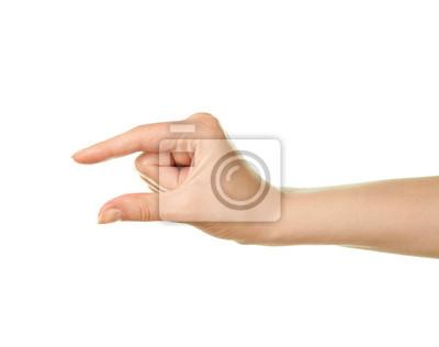 Fototapeta Kobieta pojedyncze strony gest kaukaski