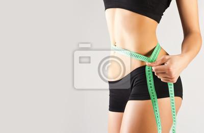 Kobieta pomiaru idealne ciało, pojęcie