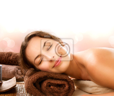 Kobieta Spa w Salonie Piękności