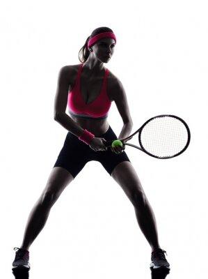 Fototapeta Kobieta tenisista sylwetka